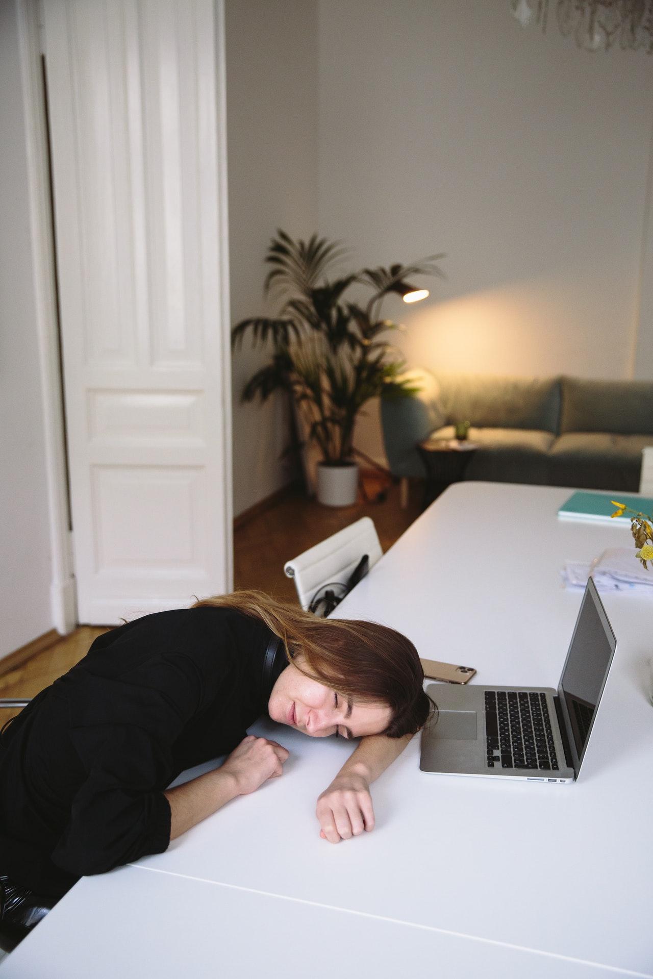 slapen bureau